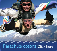Tandem Skydiving. Person is exhilarated whilst skydiving in Northern Ireland
